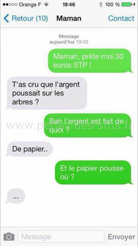 argent papier pousse sur les arbres perles des sms