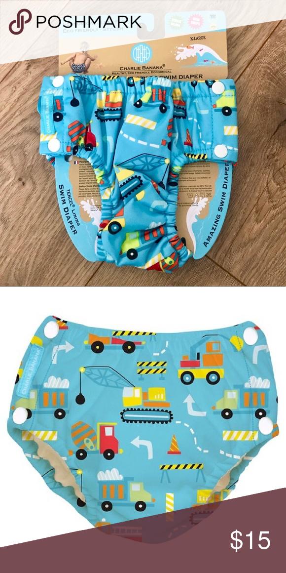 c4893318d1 Charlie Banana Eco Reusable Snap Swim Diaper NWT NWT XL = 27-55 lbs Charlie