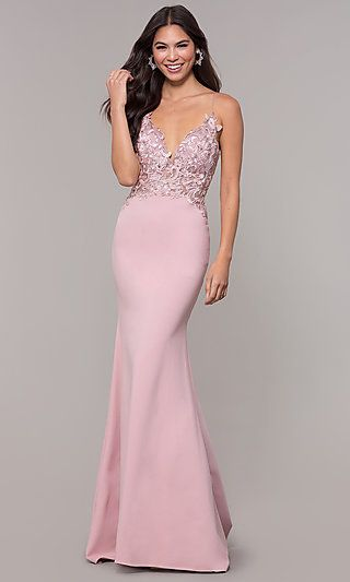 3444965b60b7 Sleeveless Prom Dress with Embroidered Bodice in 2019 | PROM 2019 ...