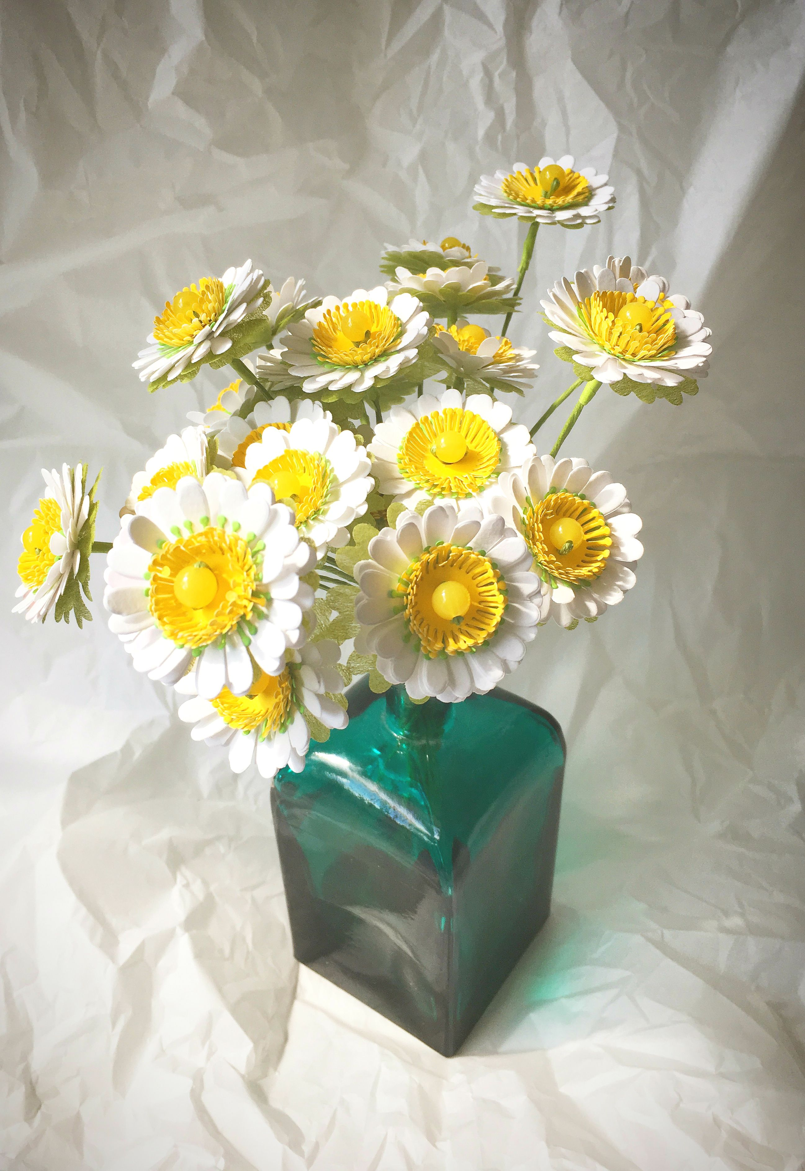 Paper Daisy Bouquet Paper Daisy Flowers Httpsetsy