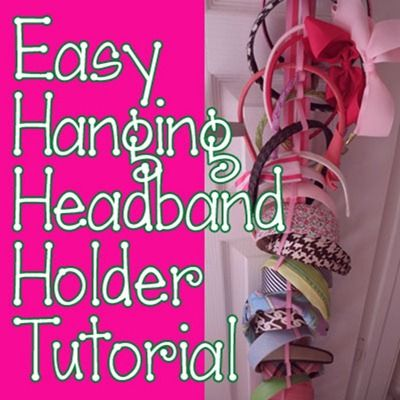 Easy Hanging Headband Holder Tutorial - step by step how to create this great hair-doodle storage solution  sc 1 st  Pinterest & Easy Hanging Headband Holder Tutorial - I show you step by step how ...