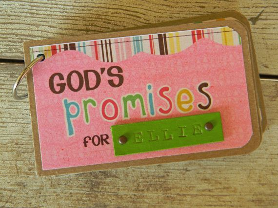 Personalized gods promise book for baby girl unique christian personalized gods promise book for baby girl unique christian gift idea for baby shower negle Gallery