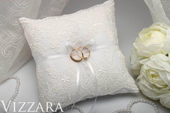 Wedding Pillow Ring Bearer White wedding accessories ideas