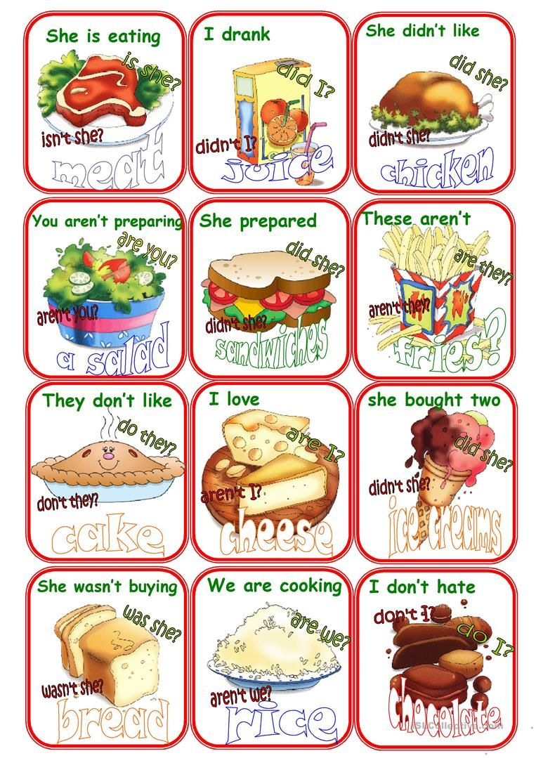 Go fish question tags and food worksheet free esl printable go fish question tags and food worksheet free esl printable worksheets made by teachers forumfinder Images