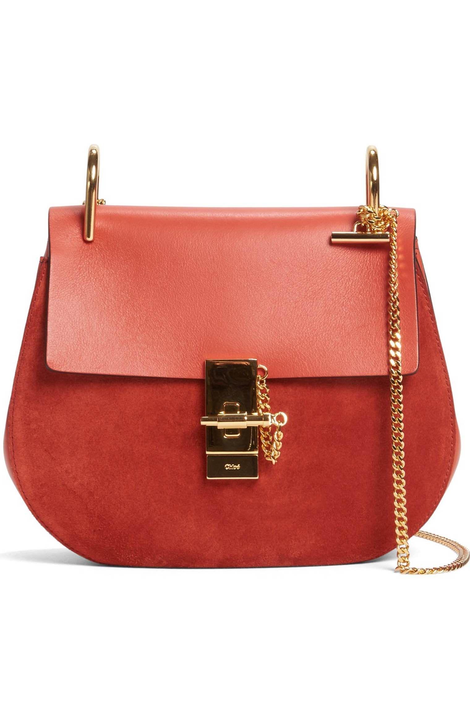8c67915c13 Main Image - Chloé 'Mini Drew' Leather Crossbody Bag Sacs À Bandoulière  Rouge,