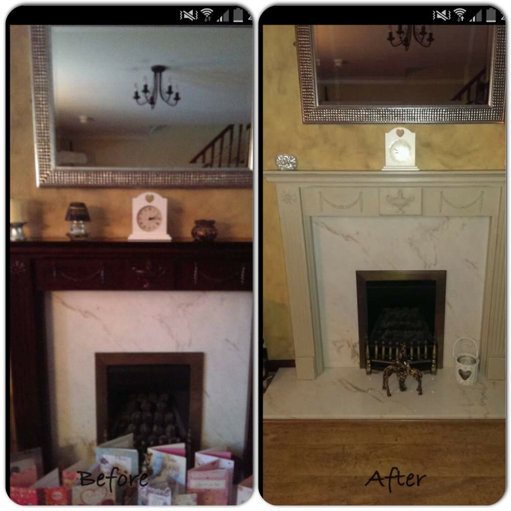 Fabulous Painted This Dark Mahogany Wood Fire Surround For A Friends Download Free Architecture Designs Meptaeticmadebymaigaardcom