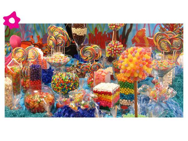 Mesa de dulces para boda colorida mesas solo chuches - Mesa de dulces para bodas ...