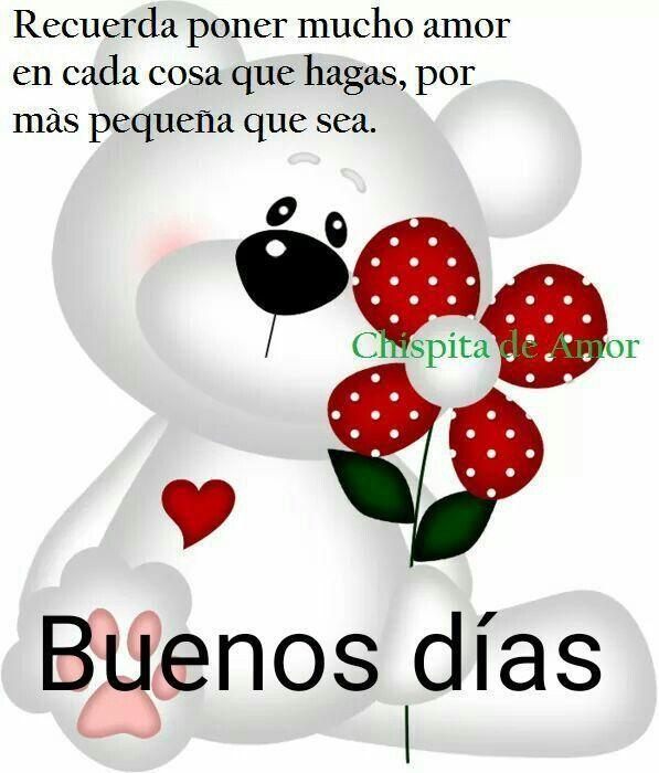 Muy Buenos Dias Frases Para Mi Amor In 2020 Good Morning Greetings Cartoons Love Morning Greeting