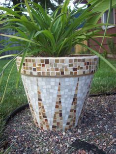 Mosaic pot I made