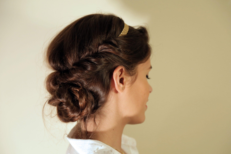 Romantic messy hairdo peinados Pinterest