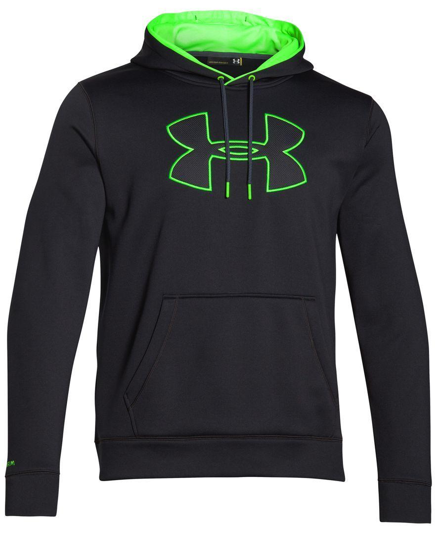 0c9215224 Under Armour Storm Armour Fleece Big Logo Performance Hoodie - Hoodies &  Sweatshirts - Men - Macy's