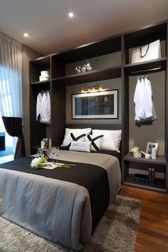 small space master bedroom this room sic too masculine for me but i love the - Master Bedroom Designs For Small Space