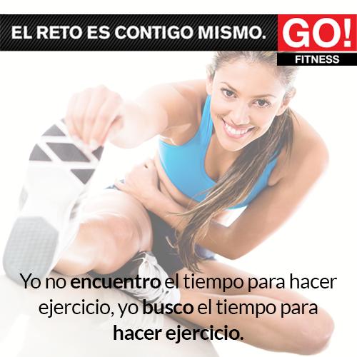 No hay pretextos para no hacer ejercicio.