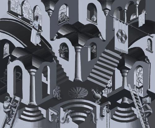 Optical Art Designs : エッシャーとは [単語記事 mc escher illusions and