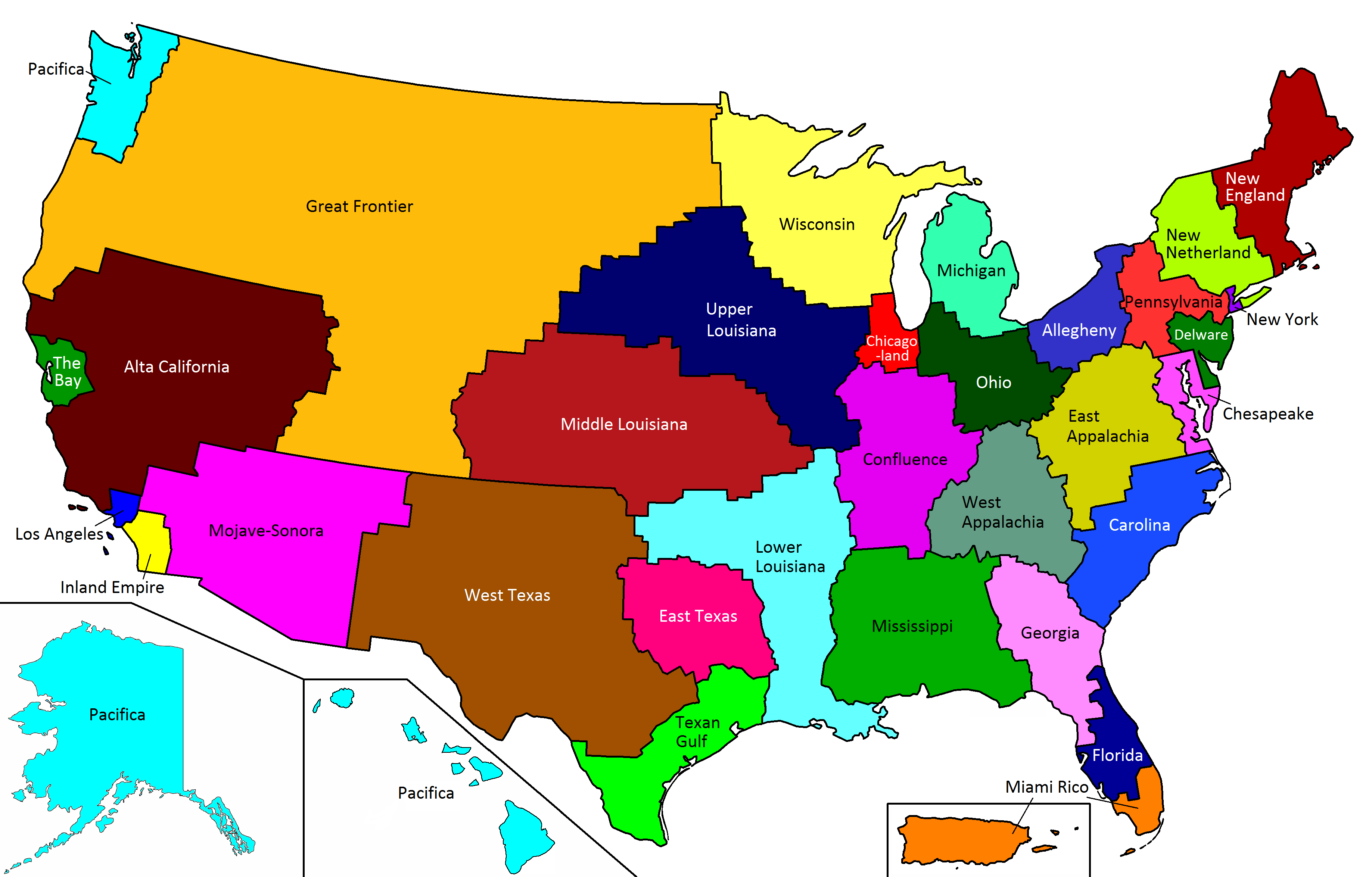 Everything La 32 Equally Populated States Of Usa United States Map History Geography Alta California