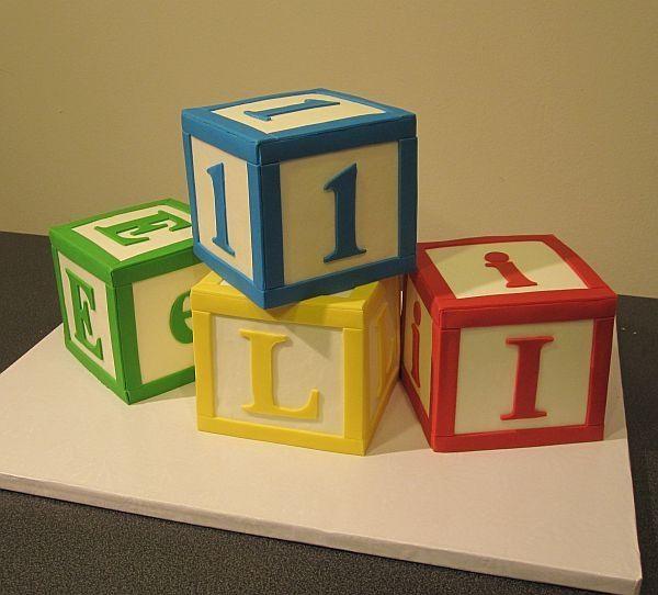 Baby Letter Blocks Birthday Cakes Block Birthday Baby Letters Alphabet Birthday Parties