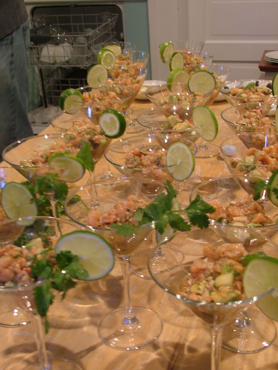 Ceviche!  Like us on Facebook for more food and party pics.