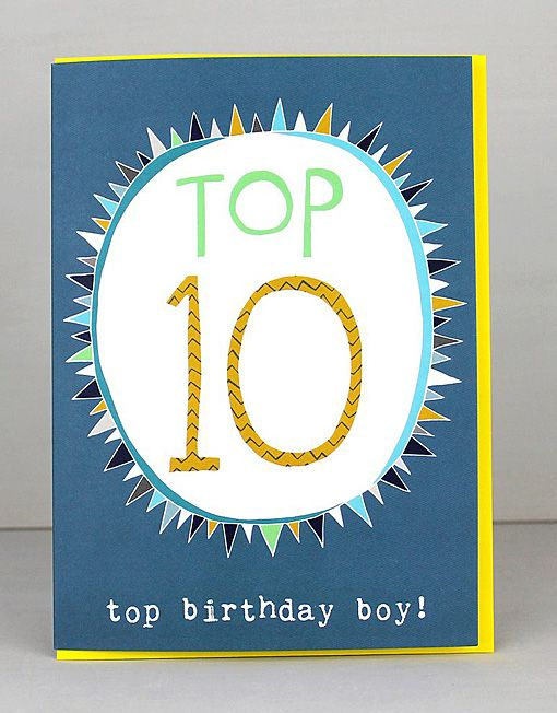 New 10th Birthday Cards For Boys By Molly Mae I Love This New Range