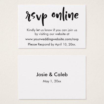 Wedding Rsvp Website.Wedding Rsvp Online Casual Insert Black White 11 Zazzle