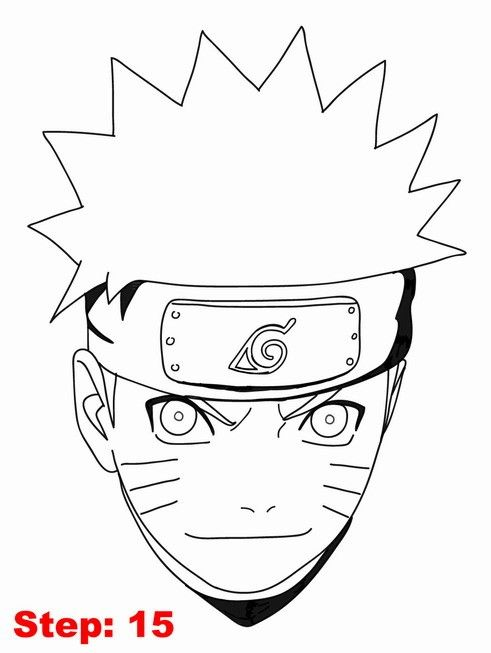 Drawing naruto tutorial step 15