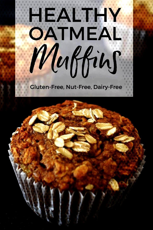 Muffins. Easy, No flour, No refined sugar, gluten free, n... Healthy Oatmeal Banana Muffins. Easy,