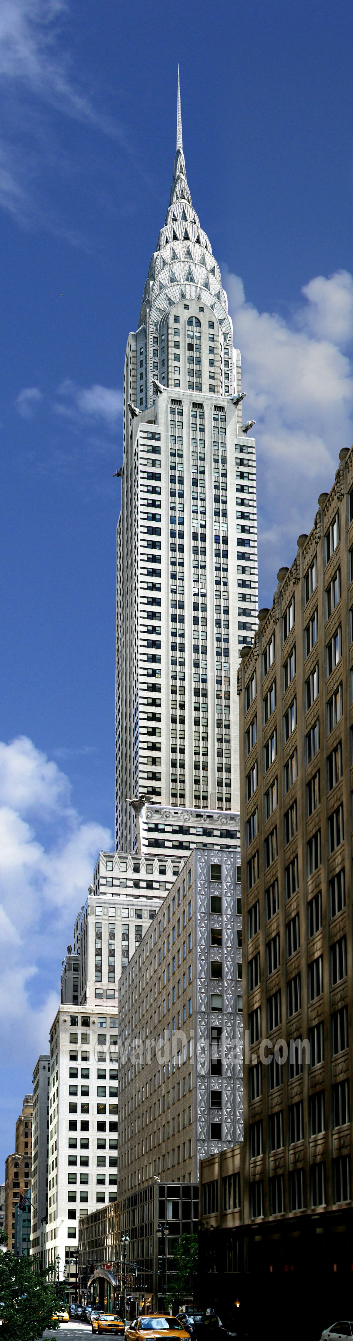 Chrysler Building, 1930, 319 m. Astrogeographical position