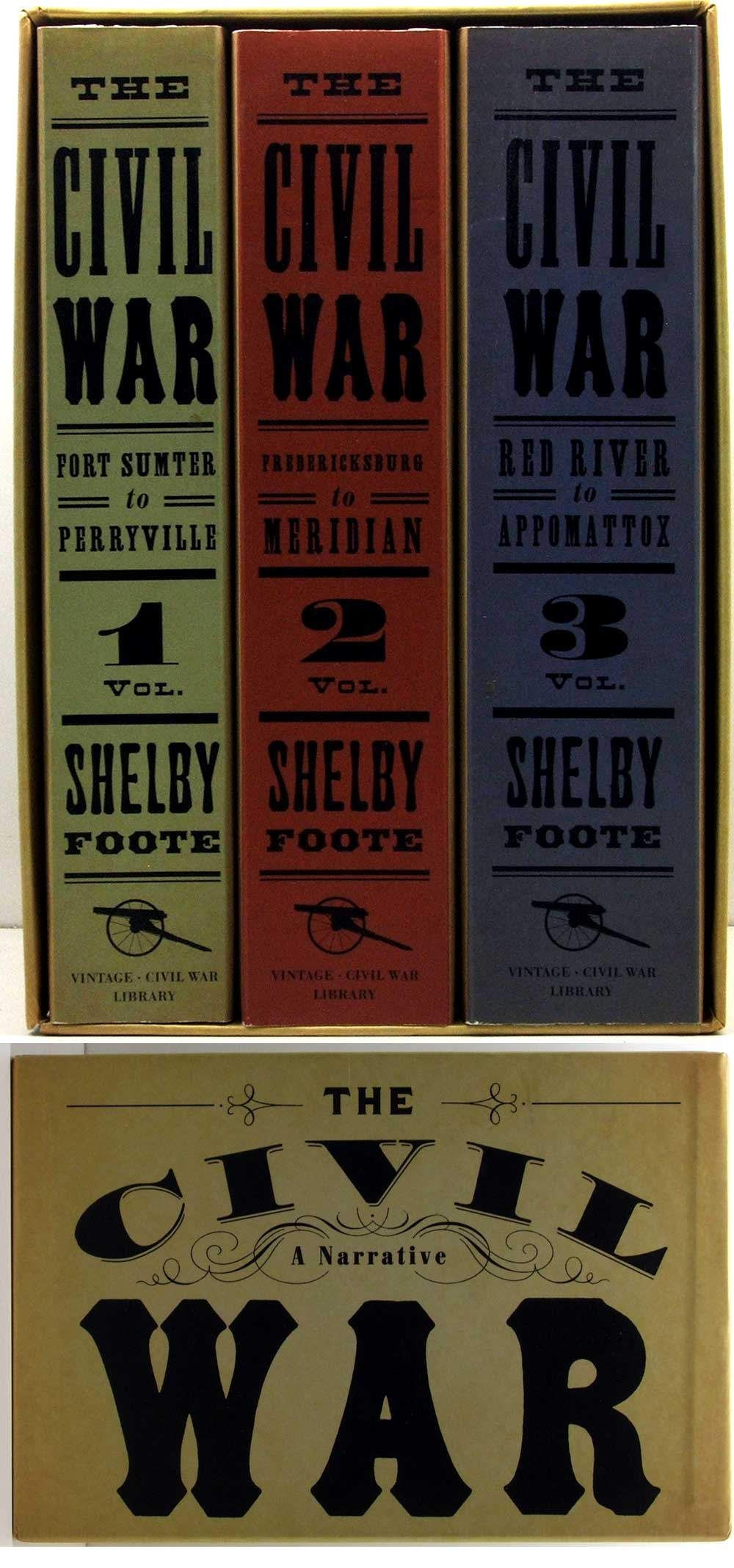 Shelby Foote The Civil War A Narrative Boxed Set Of 3 History Etsy Civil War Books Civil War Shelby Foote