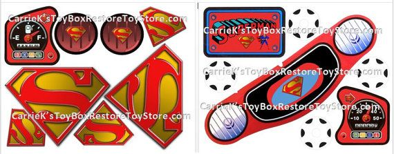 Little tikes cozy coupe car superman decals by carriekstoybox