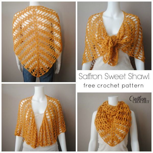 Saffron Sweet Shawl | Tücher, Schals und Häkeln