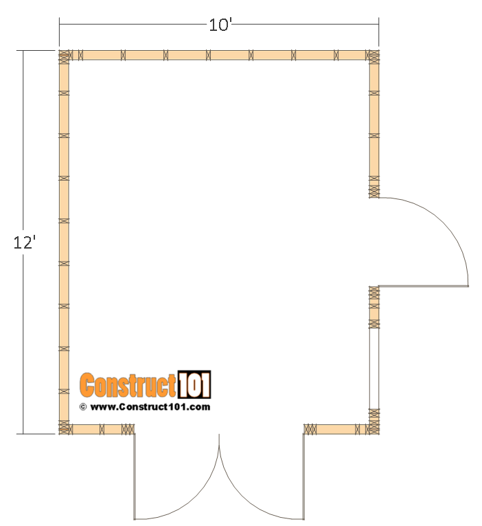 10x12 Barn Shed Plans In 2020 Shed Floor Building A Storage Shed Barns Sheds