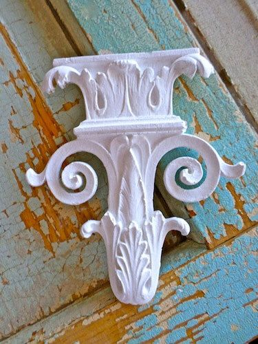Shabby Chic Architectural Carved Furniture Appliques - Wood & Resin - Flexible - Paintable - Stainable by diychicgirl on Etsy https://www.etsy.com/listing/158312126/shabby-chic-architectural-carved