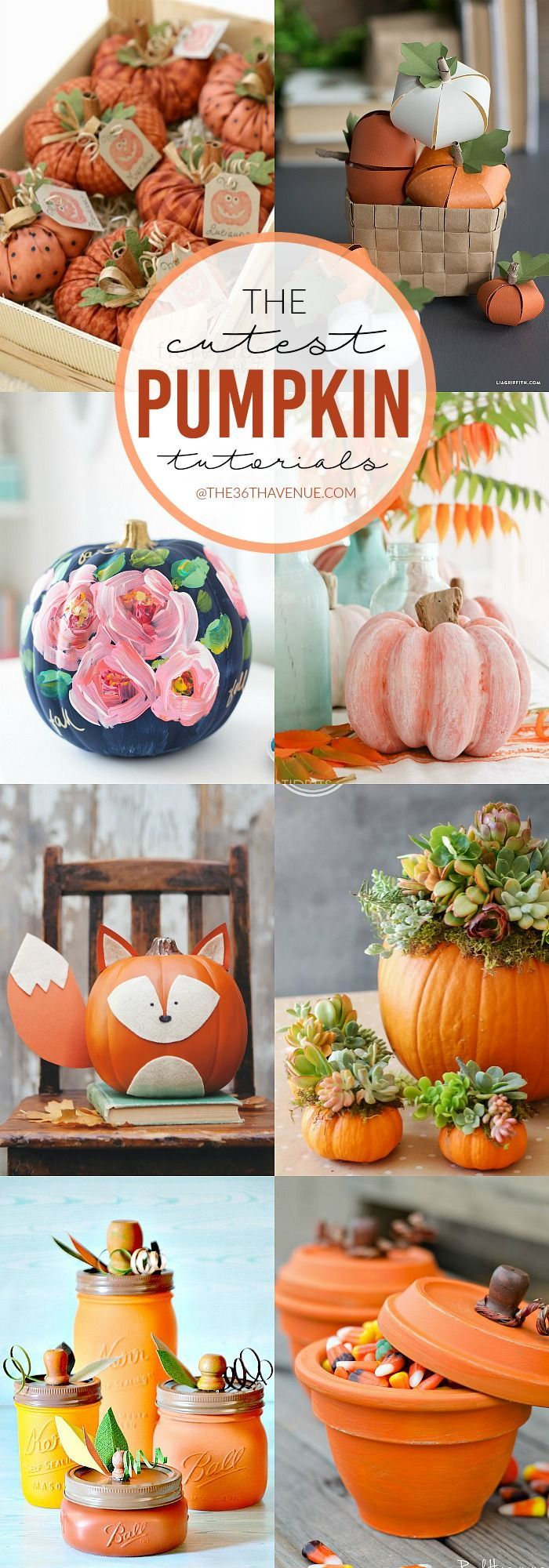 Fall Decor DIY Pumpkin Tutorials Fall decor, Diy