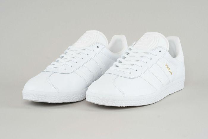 3537719f29c6 adidas Gazelle (Triple White) - Sneaker Freaker   guys' fashion ...
