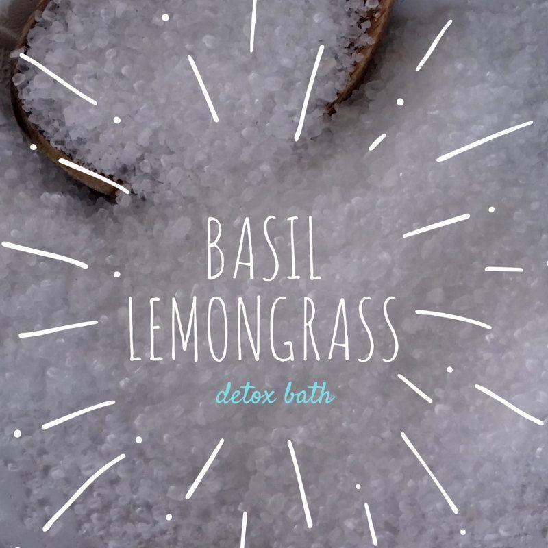 New to EnlightenedLotusByEC on Etsy: Basil Lemongrass Detox Bath Detox Bath Salts Detox Bath Soak (9.95 USD)