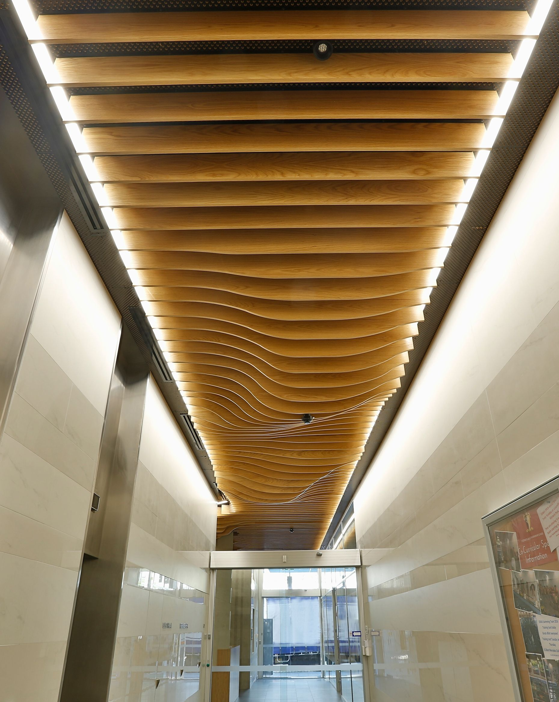 Supawood S New Product Wave Blades Used For The Ceiling Of
