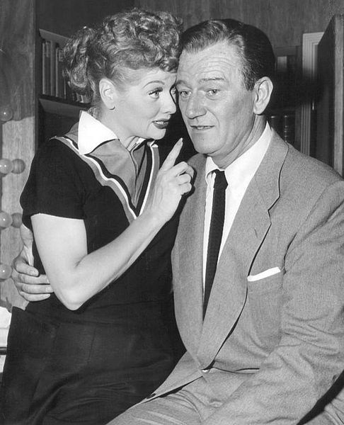 Lucille Ball and John Wayne in 1955 ..... <3