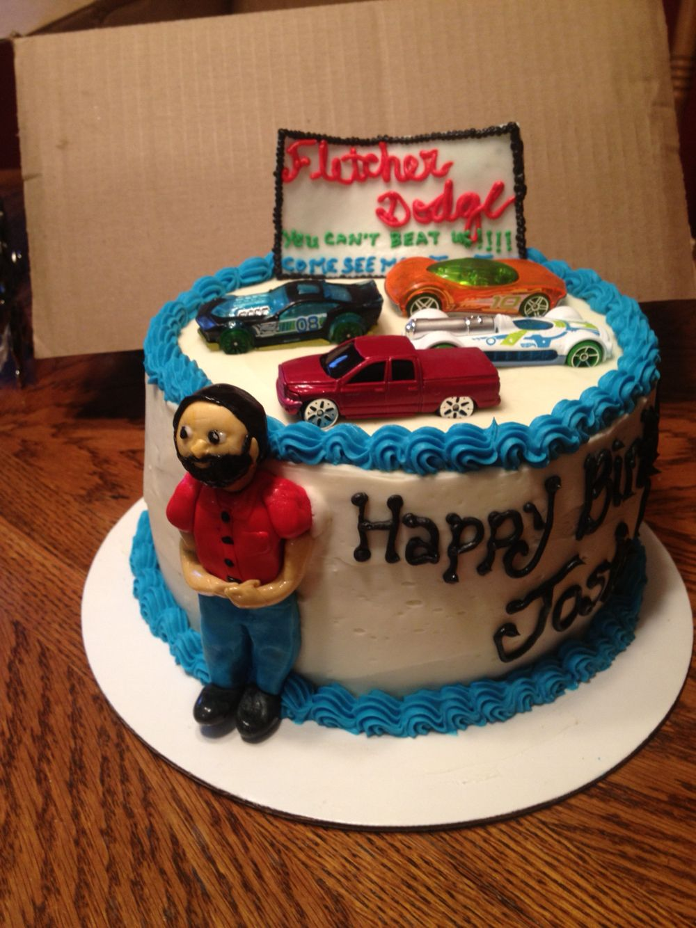 Birthday cake car salesman My cakes Pinterest Birthday cakes