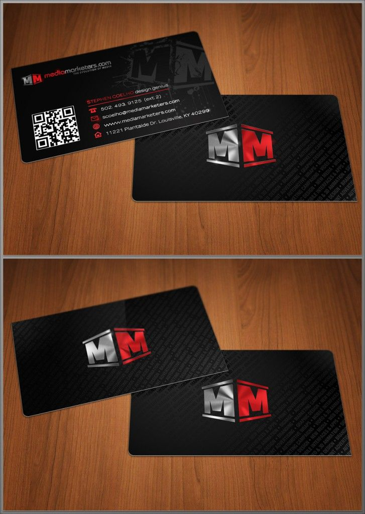 Media Marketers Foil Stamp Business Cards designed by Stephen Coelho ...