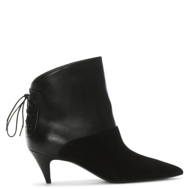 Ally 55 Black Suede Leather Kitten Heel Ankle Boots Kitten Heel Ankle Boots Kitten Heel Boots Boots