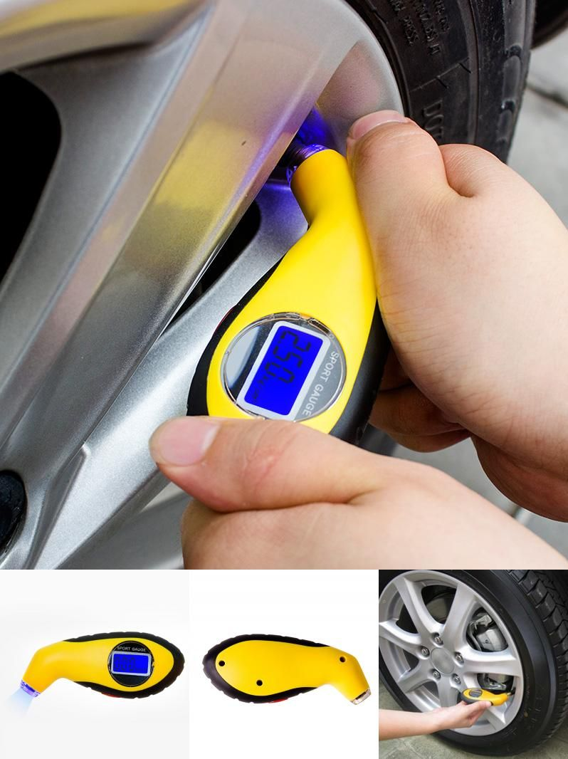 Visit to Buy] Digital Car Tyre Air Pressure Gauge Meter Manometer ...