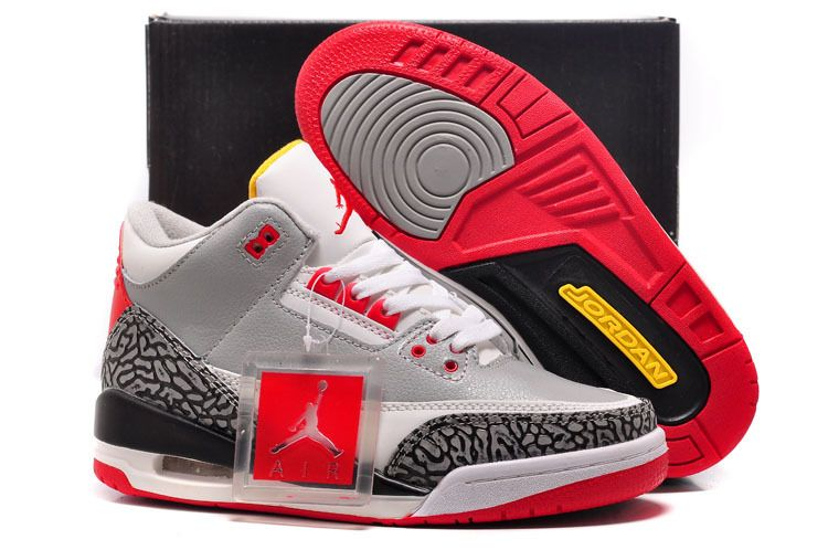 27b9c7f5b For Sale Air Jordan 3 GS Retro Wolf Grey-Sport Red Black Cement-White For Womens  Women Air Jordan 3 - Nike official website Up to 50% discount