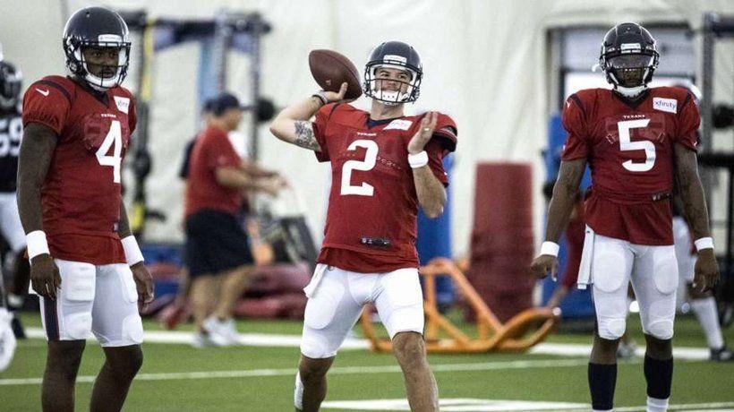 Texans QB McCarron Thumb Could Miss Preseason Houston