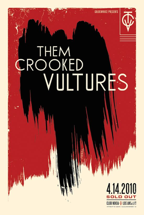 THEM CROOKED VULTURES - Nokia Theatre, LA SOLD OUT www.lalalandprints.com