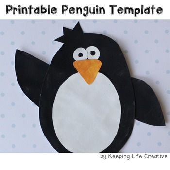 Penguin Craftivity Template Bear template, Fun art projects and - penguin template