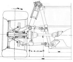 Race car blueprints for Open Wheeler style, Burrows Cars