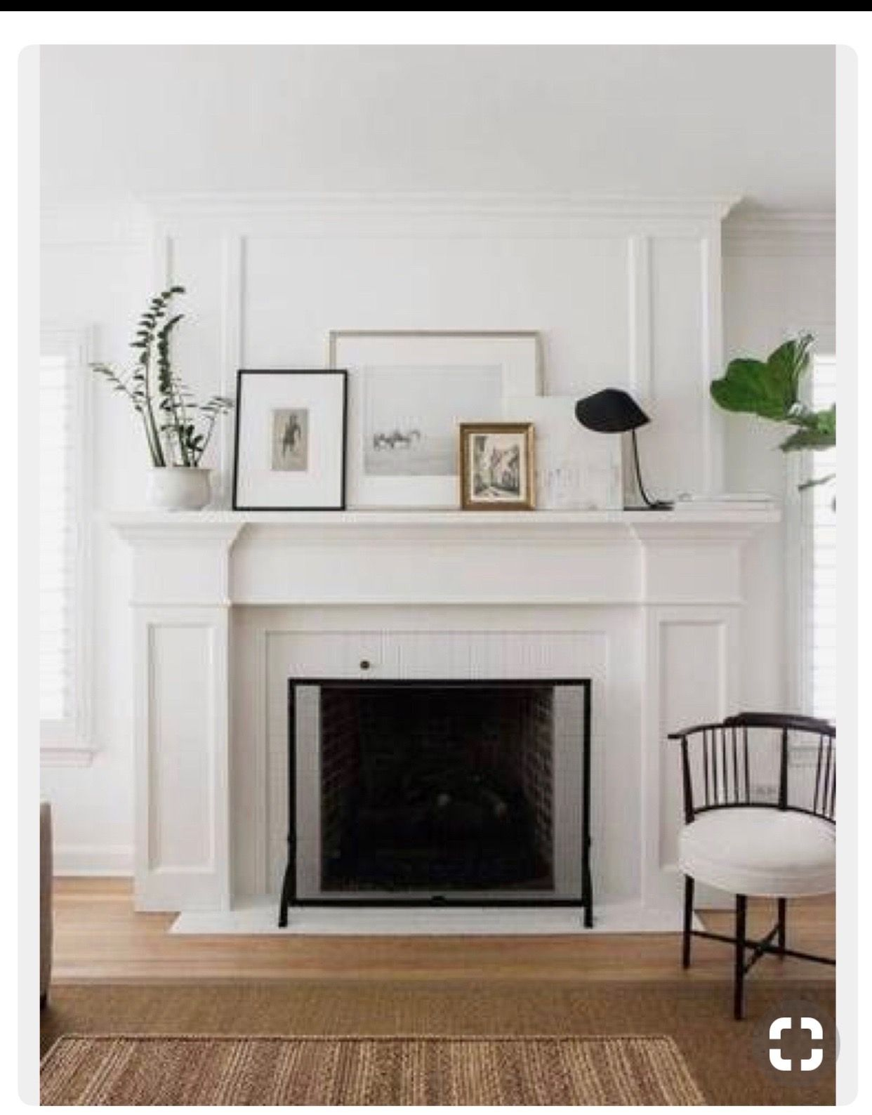 Mantel fireplace update renovation before and after decor