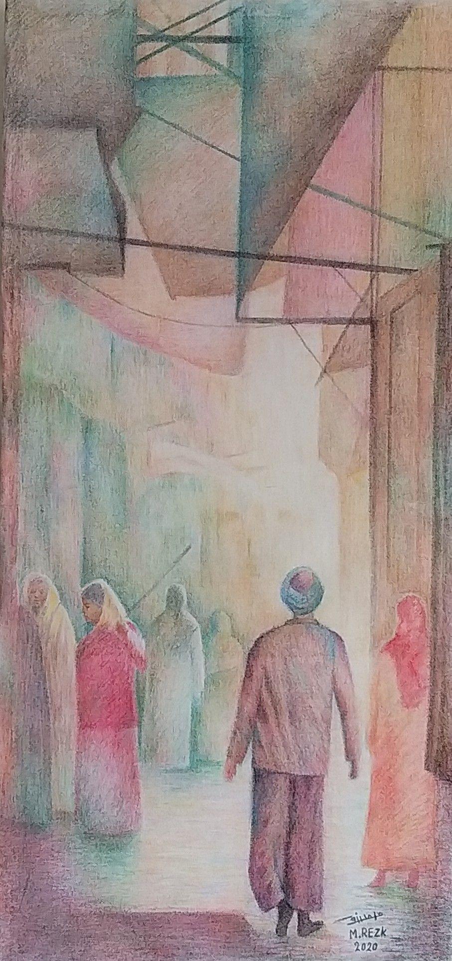 من أعمالي ألوان خشب علي كانفوس ١٠٠ ٥٥ ٢٠٢٠ Painting Art