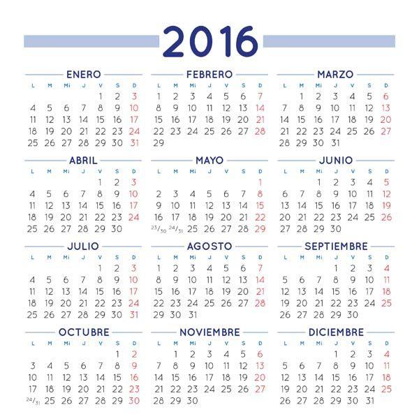 Calendario 2015 En Espanol Para Imprimir