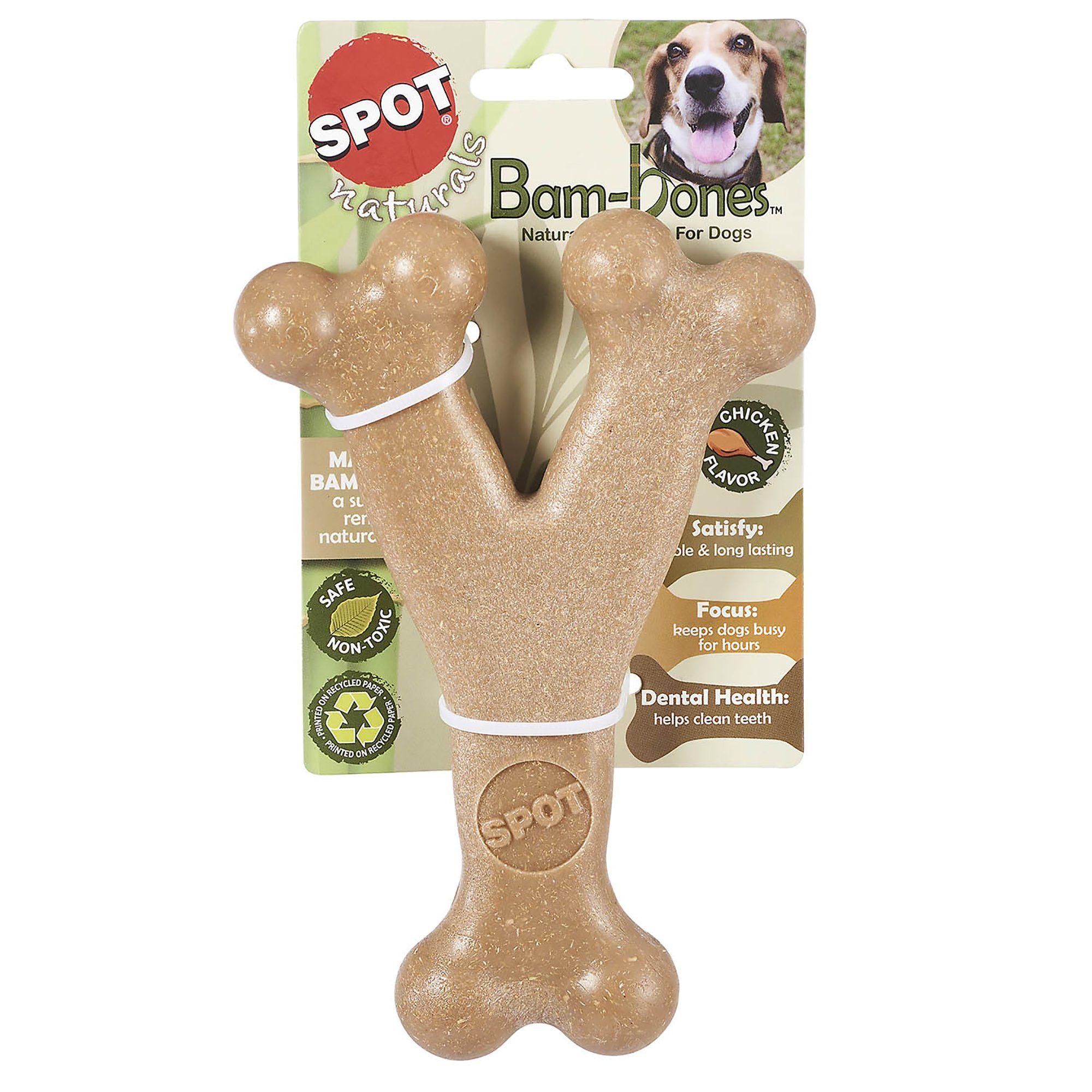 Spot Naturals Bam Bone Wishbone Chicken Flavored Dog Chew Toy