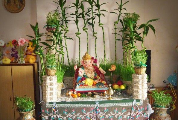 Ganesh Chaturthi Decoration Ideas For Home Ganesh Chaturthi